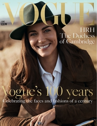 British Vogue's 100th anniversary cover