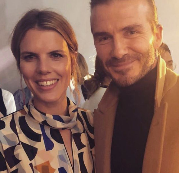 Ginnie with David Beckham