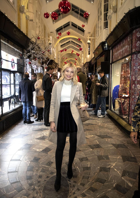 Georgia Toffolo at Burlington Arcade, Christmas Lights (1).JPG