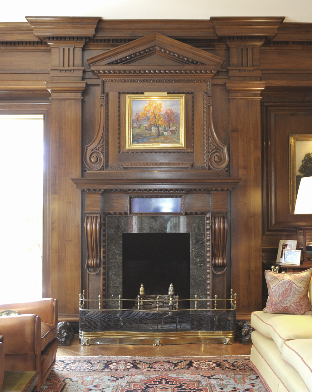 33-Private Residence Library Fireplace.jpg