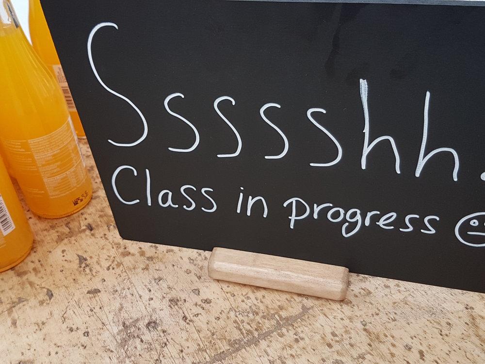 Class in progress