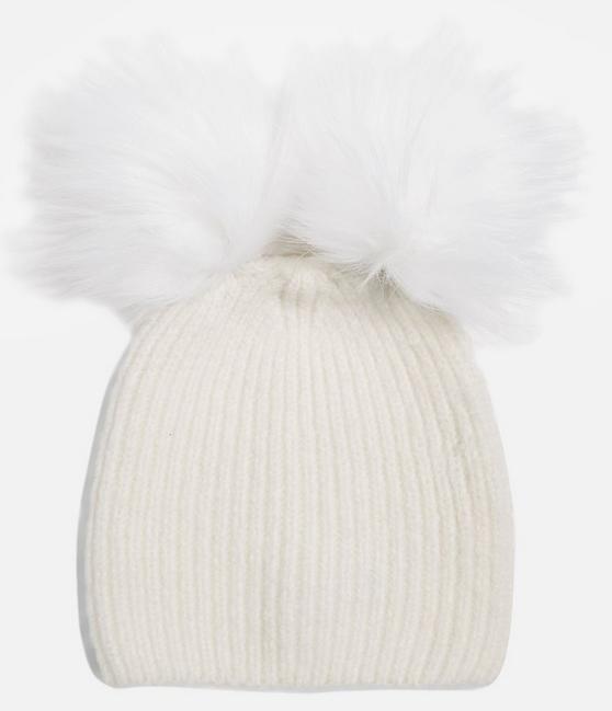 Double Pom Beanie Hat