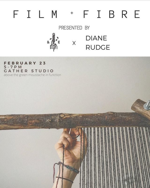 gather is hosting @dianerudge + @andiwardrop with their recent project film + fibre | hope to see you there 🍾 #collaboration #gatherworkshops #gathercreatives #create #fibre #film