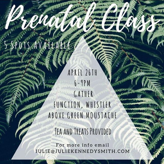 New class at Gather!  There are only 5 spots available so grab your pregnant friends and their partners and sign up! Email or message @juliekennedysmith for more details.  #newlife #birthisbeautiful #prenatalclasses #springishere