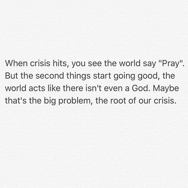 "IVE HAD TO REPOST THIS TO MANY TIMES. It's a trend. People want to ban prayer from school, Take ""In God we trust"" out our lives. Yet the number one trend on social media become's ""pray"" .. its beautiful that it's trending, but hurts to see it leave after 2 days when everyone walks away and forgets. We must pray for our country and ALL people, DAILY."