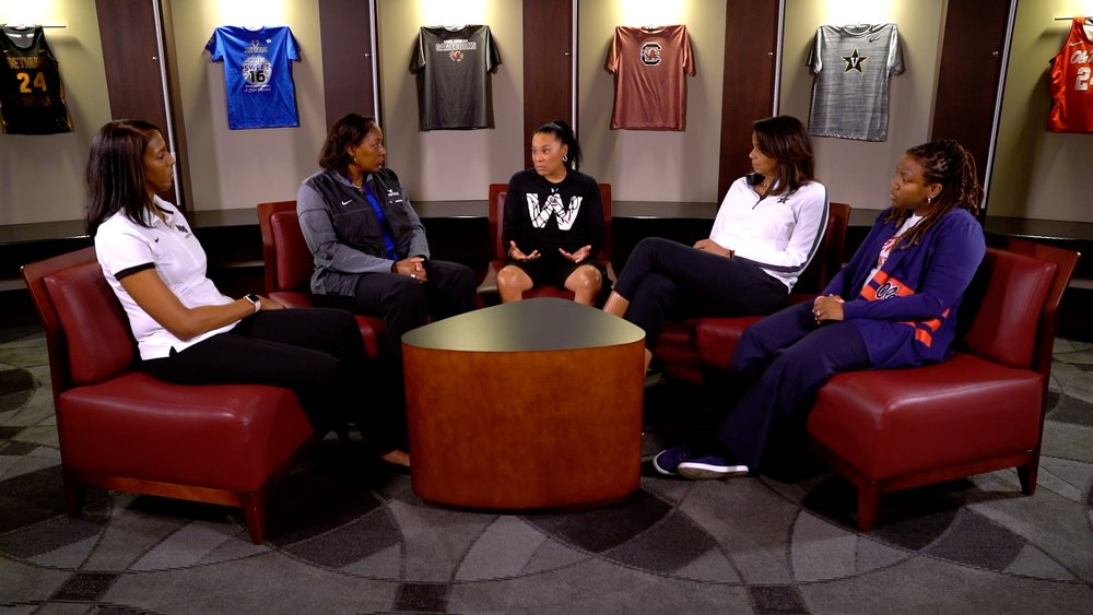 - There's perhaps no more entrepreneurial employment position in any industry than to be an athletic coach. You make the plans, run the routines, and set the culture. Dawn Staley, Carolyn Peck, Yolett McPhee-McCuin, Vanessa Blair-Lewis & Felisha Legette-Jack talk about the self leadership and vision required to be a female African American coach. In this round table, they set aside their competition with each other on the court, to fight against the history of a predominately white male position. Think about how you can break out in your role against the competition.