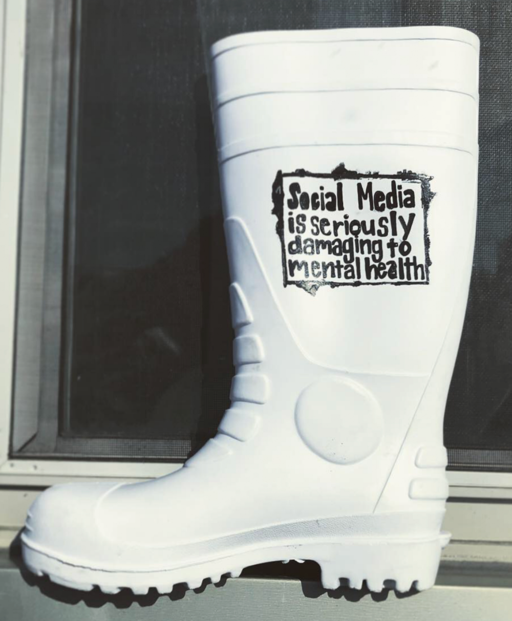 """Rain Boot"" - hand painted"