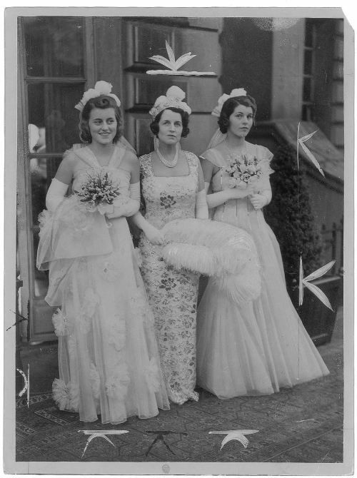 Kick, Rose & Rosemary during the Court Presentation, 1938.