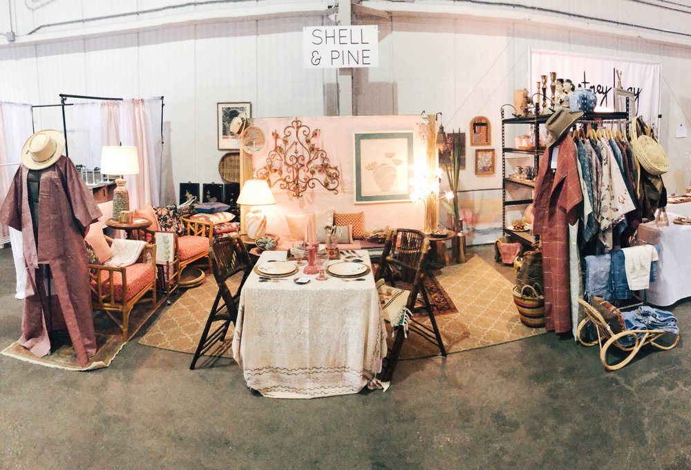 Shell and Pine booth at Flea Style Houston, Spring 2018.