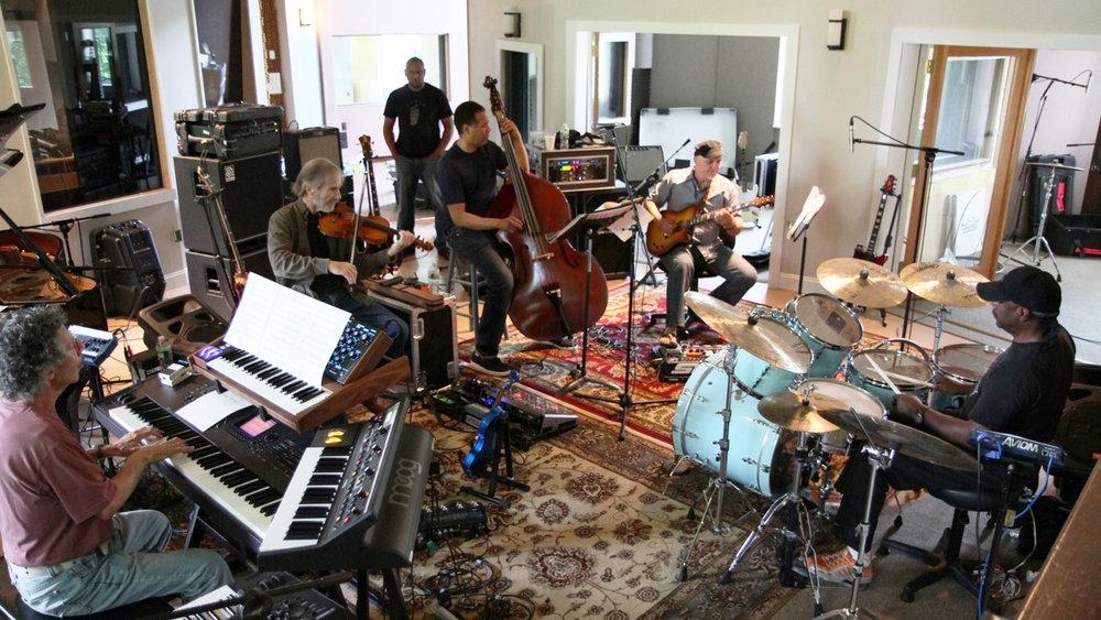 Chick Corea, Stanley Clarke, Jean Luc-Ponty, Lenny White, Frank Gambale - RTF rehearsing