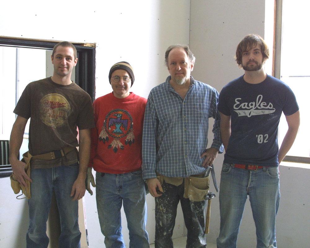 Jesse, Bob, Warren and Eric after some sheetrocking