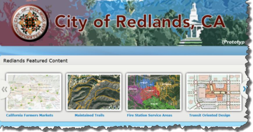 Example of Enterprise Site for City of Redlands, CA.  Image source