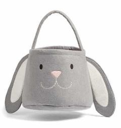 Grey Bunny Basket