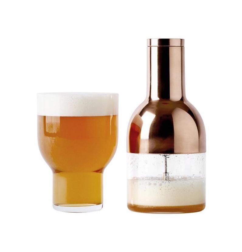 Beer Foamer & Glass Set