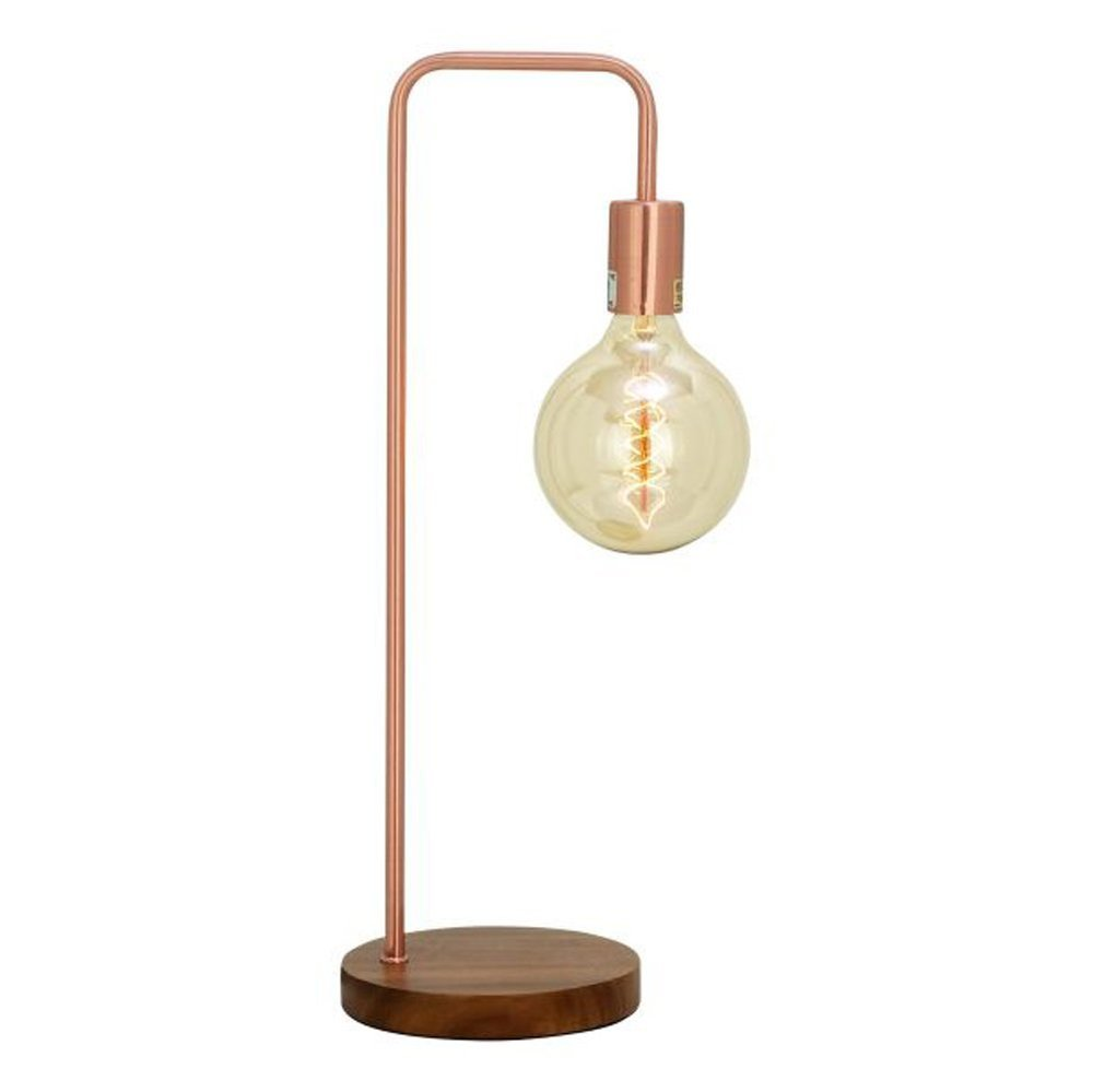 Copper Table Lamp with Bulb