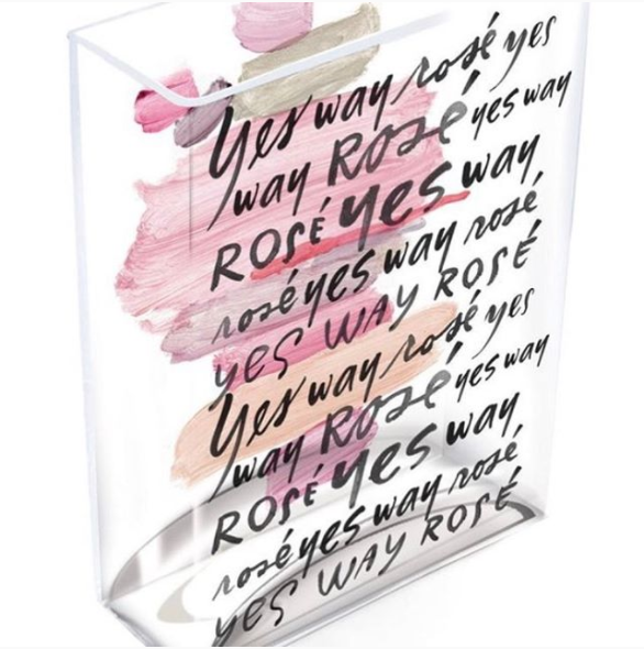 Rose All The Way Glass Vase
