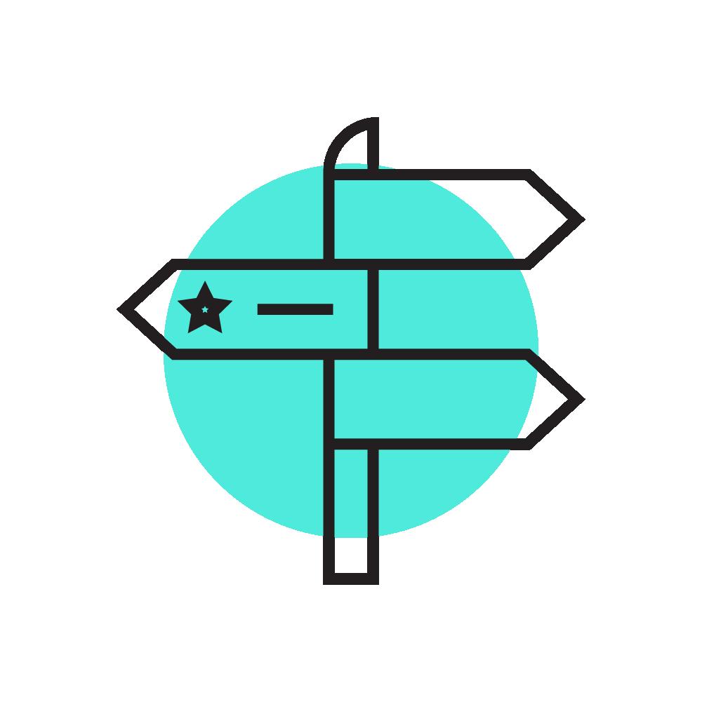 Wayfinding - Sistemas de orientação, localização para tornar o deslocamento e navegação uma ação intuitiva e agradável nos espaços físicos e digitais. Utilizamos os princípios de orientação espacial para desenvolvimento de projetos de sinalização, interfaces e editorial.