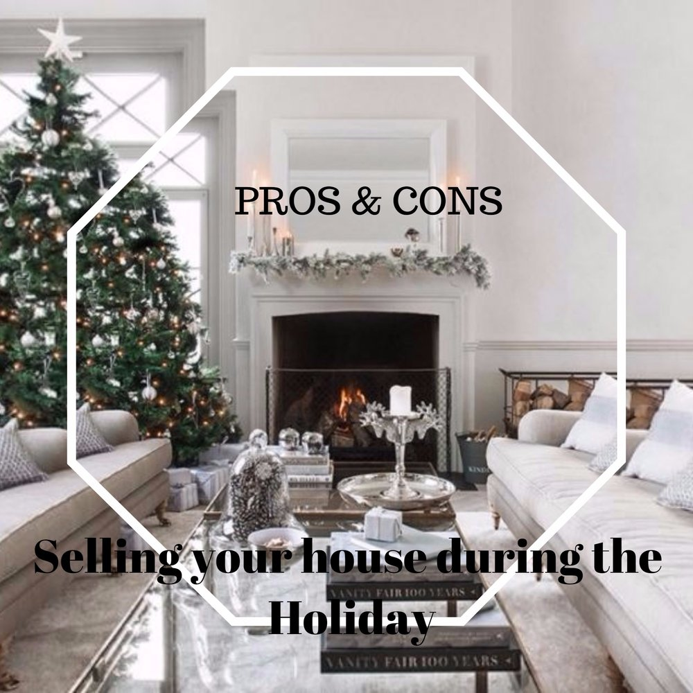 "PROS:   In the past, conventional wisdom said you shouldn't try to sell a home during the holidays. However, marketing your property when there are fewer homes for sale means your home will have less competition, making it easier to stand out to potential buyers.  Potential home buyers felt that the holidays were too hectic for home shopping. They were preoccupied with planning parties, cooking meals, buying presents or planning vacations.   Even during the holiday break, they're squeezing in work. They're already staying ""on the grid,"" so why not continue monitoring the real estate listings in their area too?   CONS:   Working around holiday travel schedules can make it tricky to get everyone to coordinate all your paperwork in a timely manner.   Also, if you live in an area with cold or snowy weather, you may find that showing requests are lower if the weather is less than desirable.   Holiday decorations also go a long way toward creating a festive elegance that will work in your favor when it comes to attracting buyers, invoking the holiday spirit that may compel someone to buy."