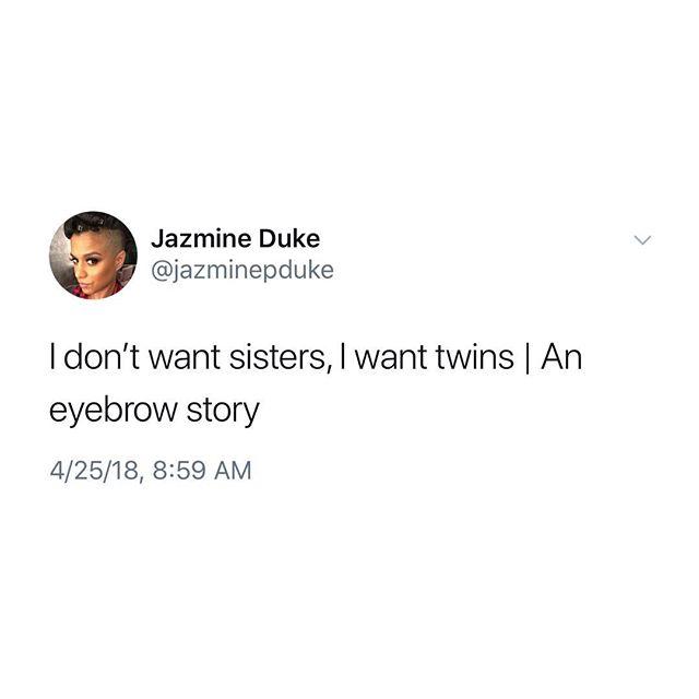 Anybody got this same #eyebrow story?