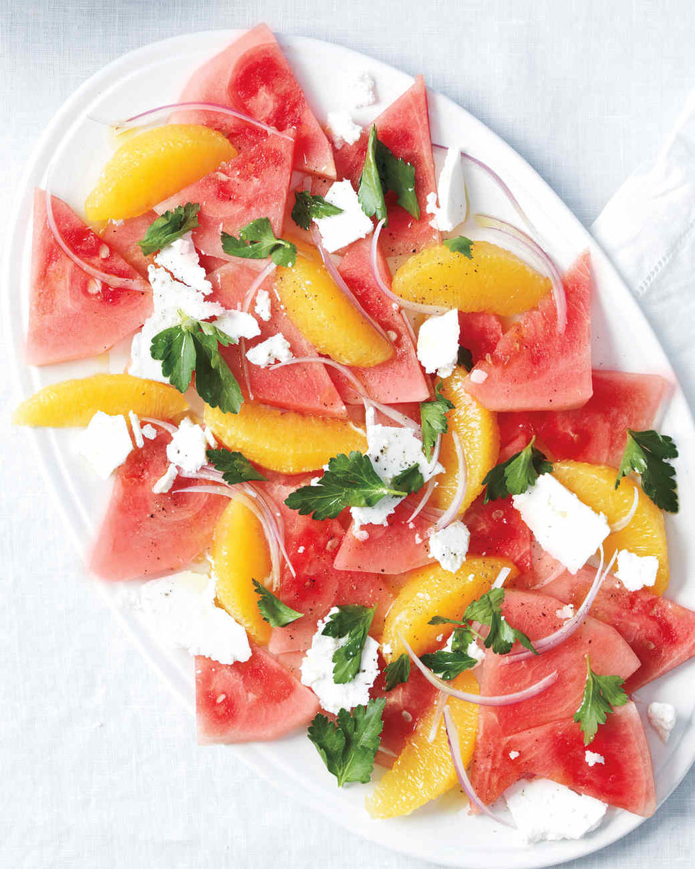 Watermelon, Orange and Feta Salad from marthastewart.com