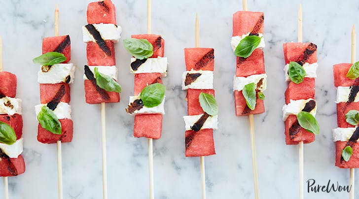 Grilled Watermelon Feta Skewers -  purewow.com