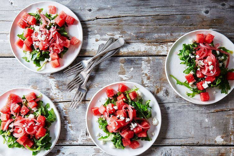Watermelon, Arugula and Pickled Onion Salad -  food52.com
