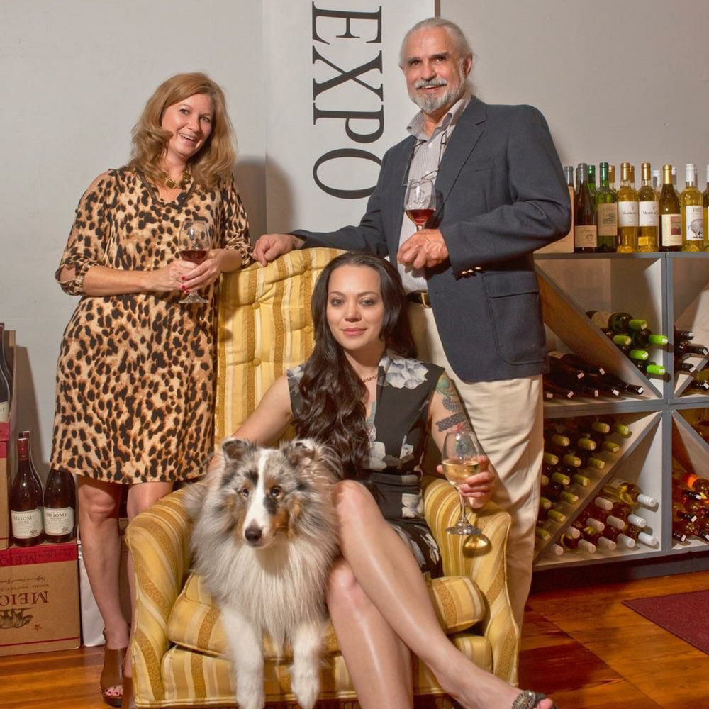 L to R. Paula, Emporium Wine, Mia, Lake Martin Animal Shelter, Henry, Emporium Wine