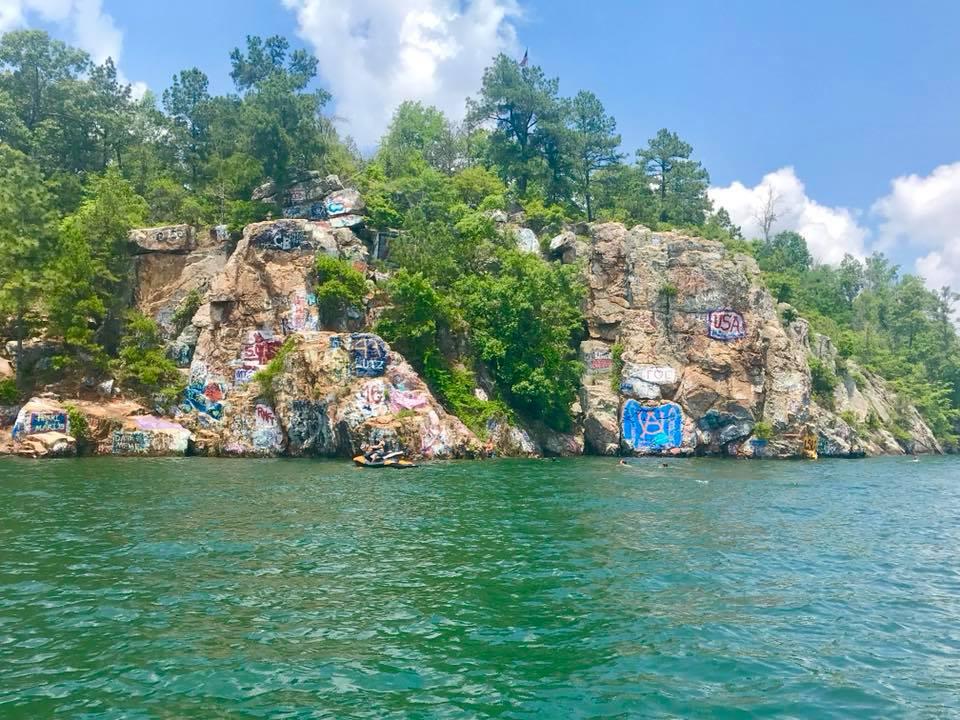 Chimney Rock is a Lake Martin Landmark