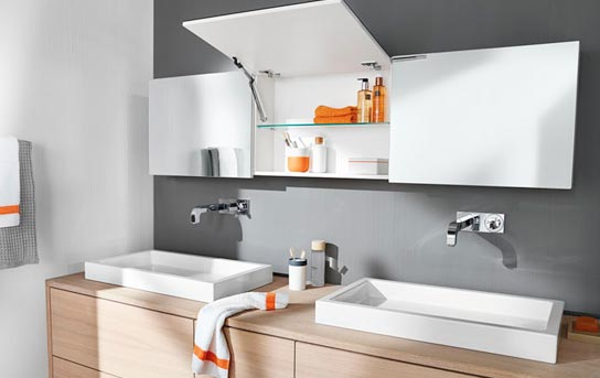 Blum Aventos    Lift Systems - Blum's lift systems are an alternative option to concealed hinges for your top  cupboards. There are 5 different lift systems available depending on your cabinetry heights / ceiling pitch / moldings and weights.