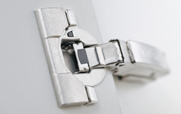 Blum concealed hinges with blumotion.   - Steves Joinery quote all kitchens with Blum concealed hinges unless other wise specified. Blum concealed hinges have blumotion for a silent graceful close.