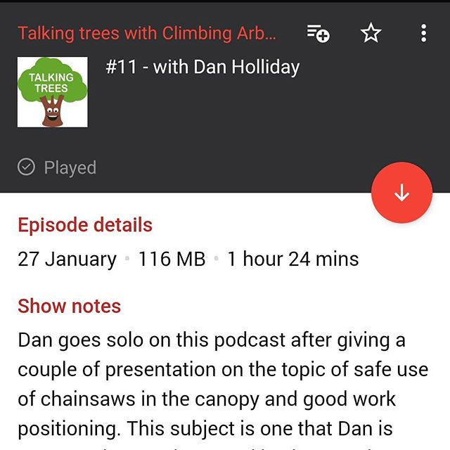 Big shout-out to @climbingarborist_com for the excellent podcasts, finally caught up to date. Please check them out on climbingarborist.com or on a podcast app. Only gripe is there needs to be more episodes!! . . . . #climbingarborist #podcast #talkingtrees #treeclimbing #arbwork #arboristsofinstagram #arb #arblife #treework #treelife #arboriculture #arborist #forestry #treeclimbing #treeworker #treeclimber