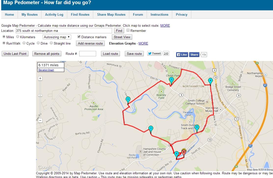 popular  list google map pedometer - noho k route (click for full size) kthumb tuesday april st run k