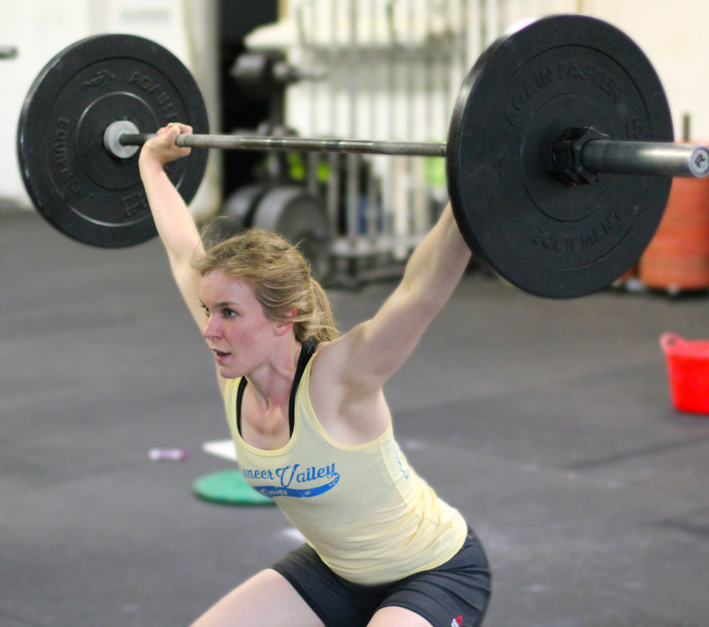 Who is ready to have a Power Snatch PR on Thursday? Here's PVCF athlete, Katie B. with some inspiring focus!
