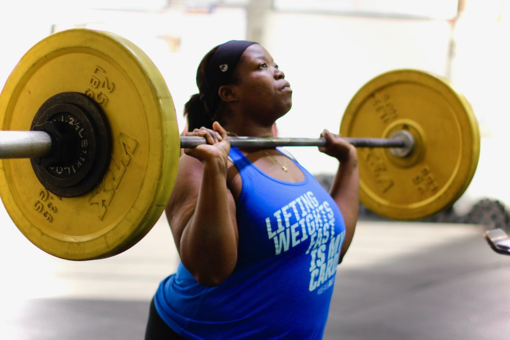 Get ready for Strength Cycle Week TWO! Here's PVCF athlete, Dre Domingue setting up for her strict press!