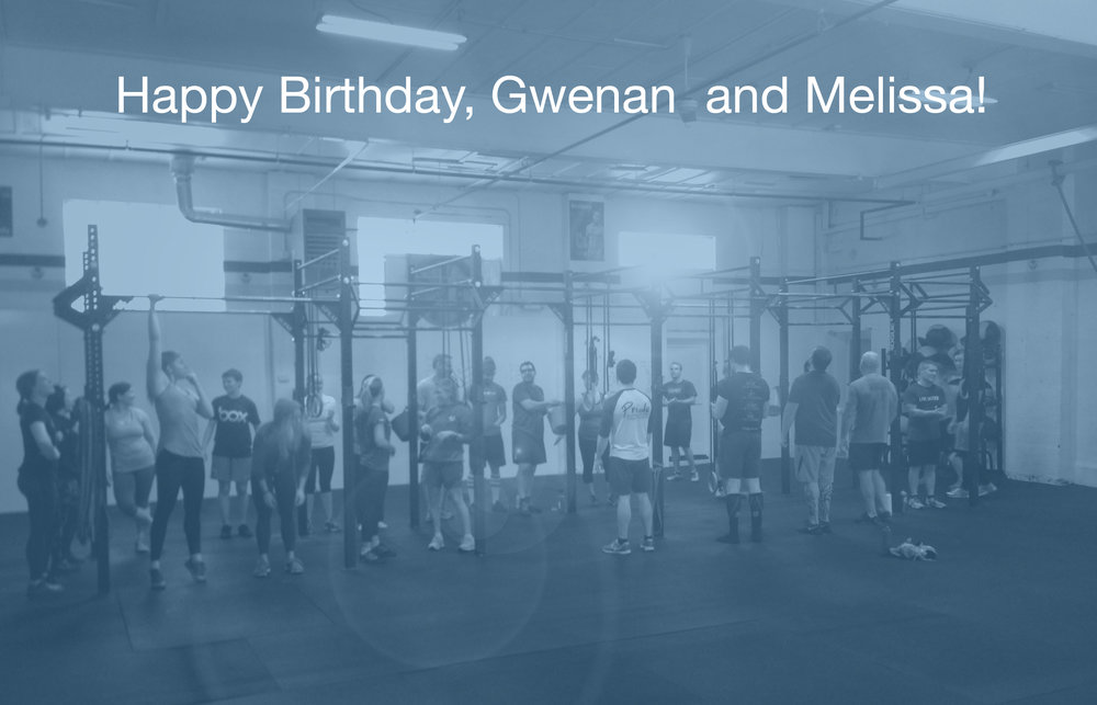 What a wonderful day to celebrate TWO Birthdays! Happy Birthday to Gwenan and Michelle!