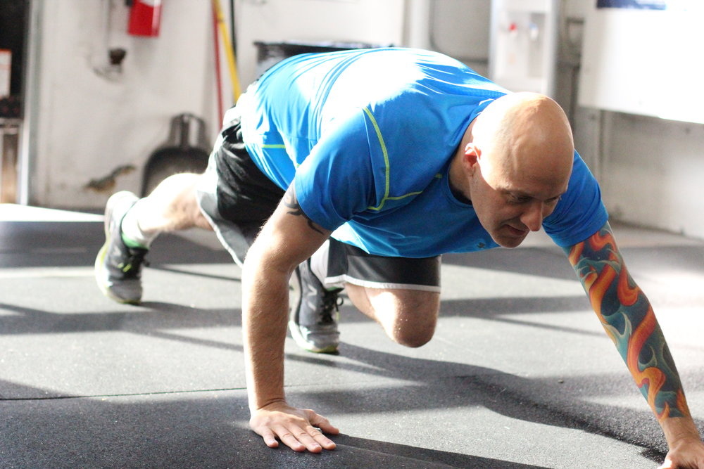 PVCF athlete, Darshan Gencarelle warms up for the WOD and catches some morning sunshine at the same time!