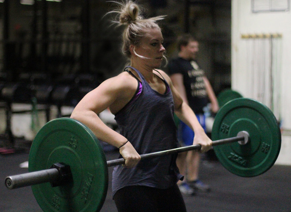 Here's PVCF athlete, Courtney Szawlowski pulling the barbell on her two month anniversary of CrossFit training!
