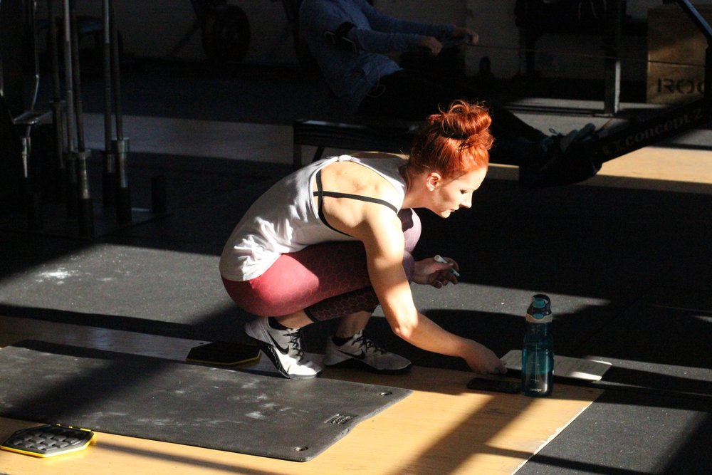 Even though the days are getting longer (yay!) we still have to get that Vitamin D where we can. Here's PVCF athlete, Gabby Washburn catching the light as she records her workout.