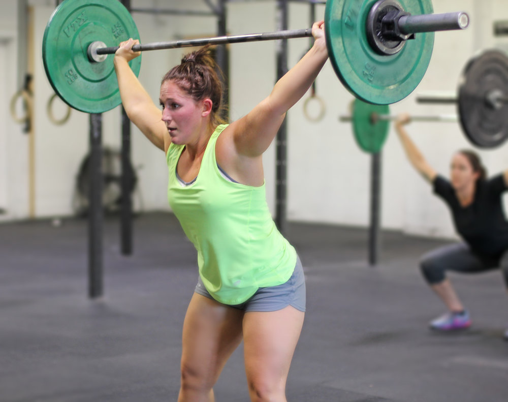 From Overhead Squats on Thursday to Power Cleans on Friday! What a dynamite what to end the week!