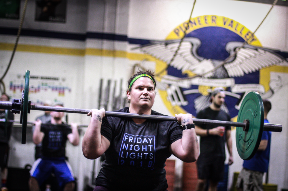 Here's PVCF athlete, Jena Lyn staying focused during a workout!