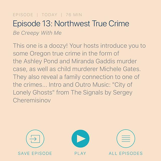You're not gonna want to miss this one! We talk true crime in our home state and reveal some pretty interesting connections to a killer. Also featured in this episode is a promo from the awesome ladies at @howimetmymurder! Be sure to check them out! #truecrime #murder #oregon #oregontruecrime #killers #ashelypond #mirandagaddis #oregoncity #wardweaver #michelegates #portland #realstories #scary #creepy #horror #becreepywithme #becreepywithmepodcast #podcastlife #familyconnections #weird #howimetmymurder #womeninpodcasting