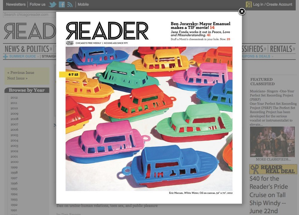 Cover of The Reader featuring the commissioned piece by Eric Mecum which hangs inside of Gorilla Group