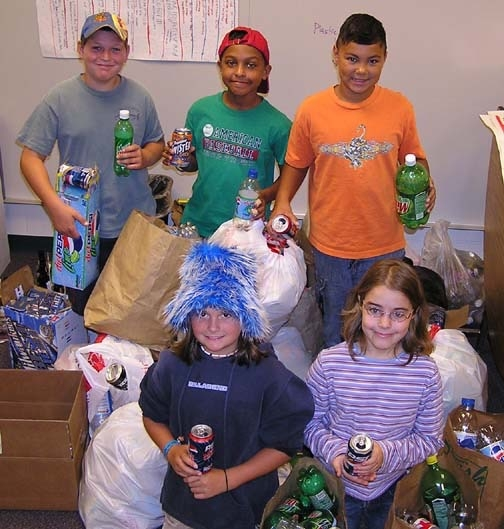 In the 10 US states, 12 Canadian provinces and 30 other jurisdictions worldwide with deposit-return laws, bottle drives collectively raise tens of millions of fundraising dollars each year. These youngsters at a Michigan elementary school raised $80 for victims of Hurricane Katrina.
