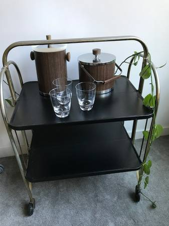 $65 bar cart and buckets