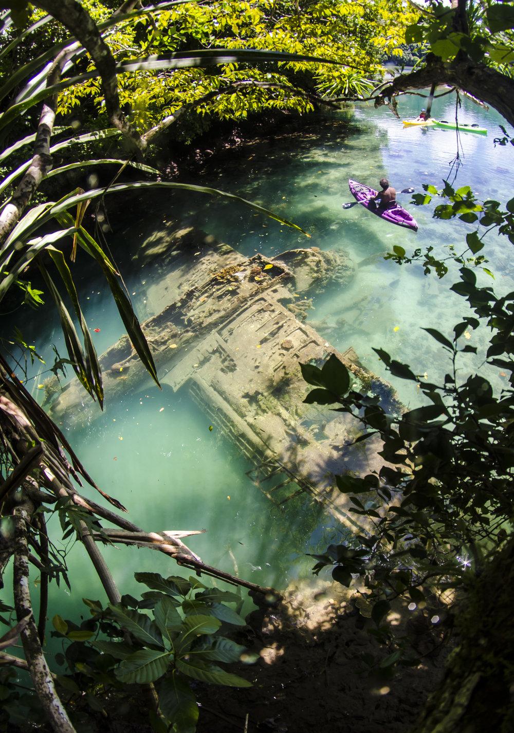 WW2 Seaplane in a lagoon, Palau