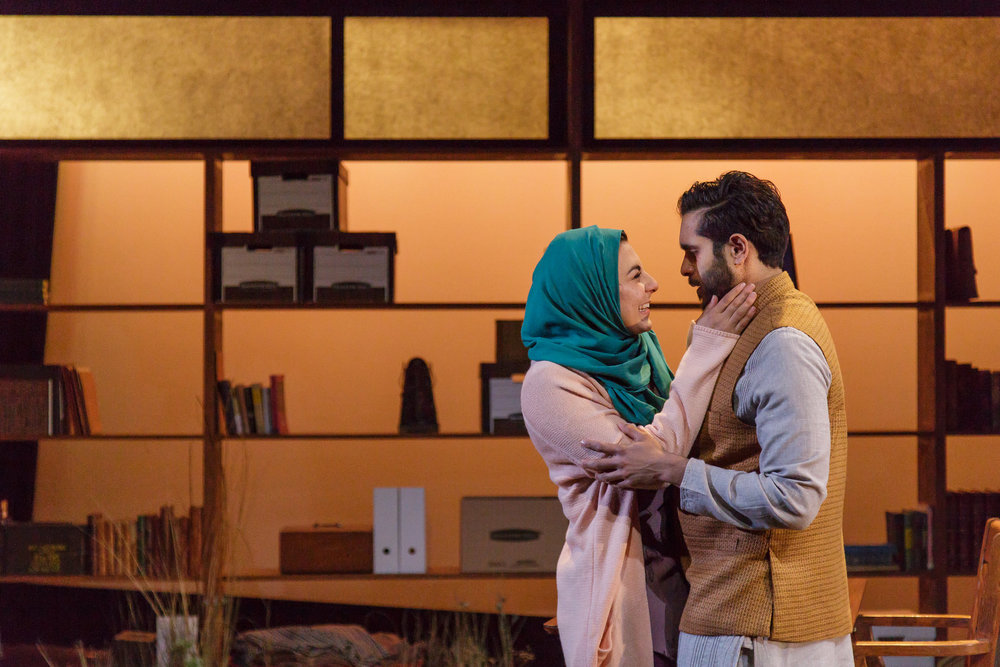 (l to r) Mari Vial-Golden & Owais Ahmed in Geva Theatre production, part of National New Play Network Rolling World Premiere.