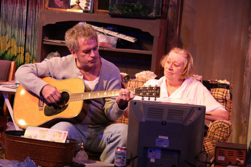 (l to r) Dennis Bailey & Jennifer Underwood in The VORTEX production, Austin, TX.