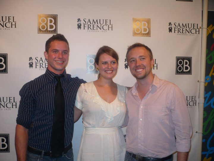 l to r: Will Brittain, Jessie Dean & Gabriel Jason Dean at the premiere of PIGSKIN in NYC.