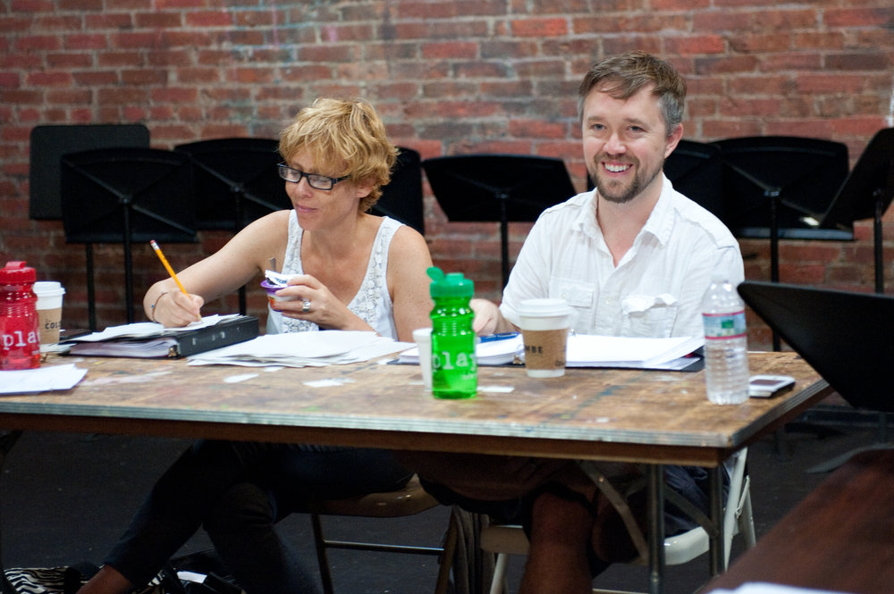 Director Lucie Tiberghien & Gabriel Jason Dean at PlayPenn 2013.