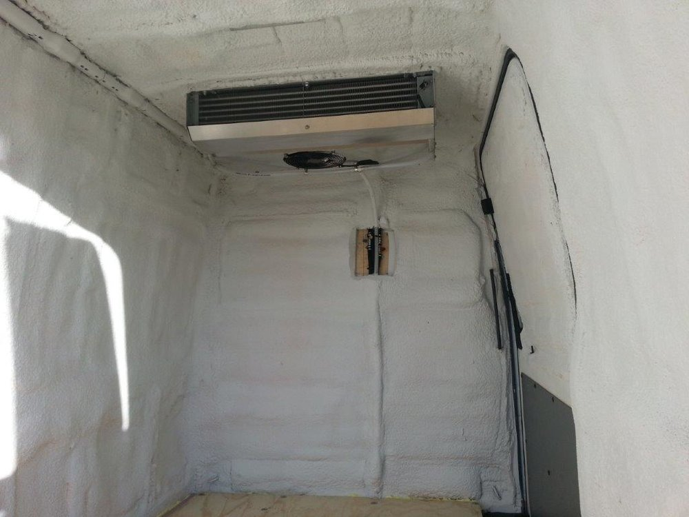 Dodge Sprinter Carrier reefer install and interior insulate.
